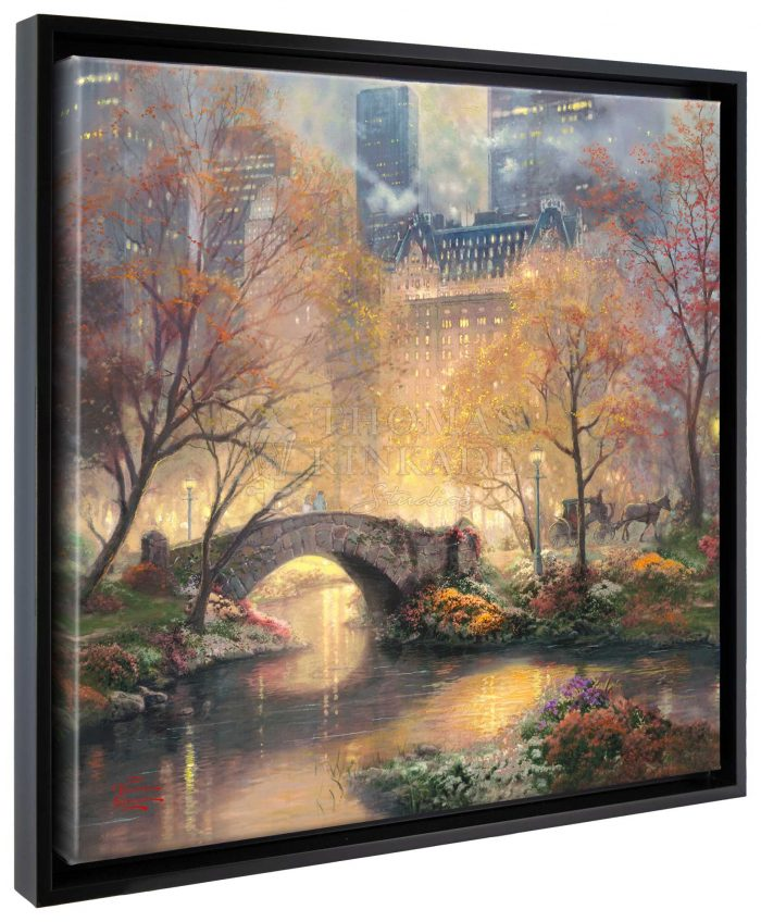 Central Park in the Fall – 20″ x 20″ Gallery Wrapped Canvas (Onyx Black Frame)