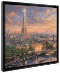 Paris City of Love – 20″ x 20″ Gallery Wrapped Canvas (Onyx Black Frame)