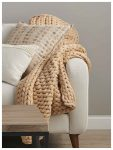 Desert Gold Chunky Knit – Throw