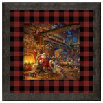 Santa's Workshop – 16″ x 16″ Framed Print