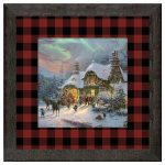 Santa's Night Before Christmas – 16″ x 16″ Framed Print