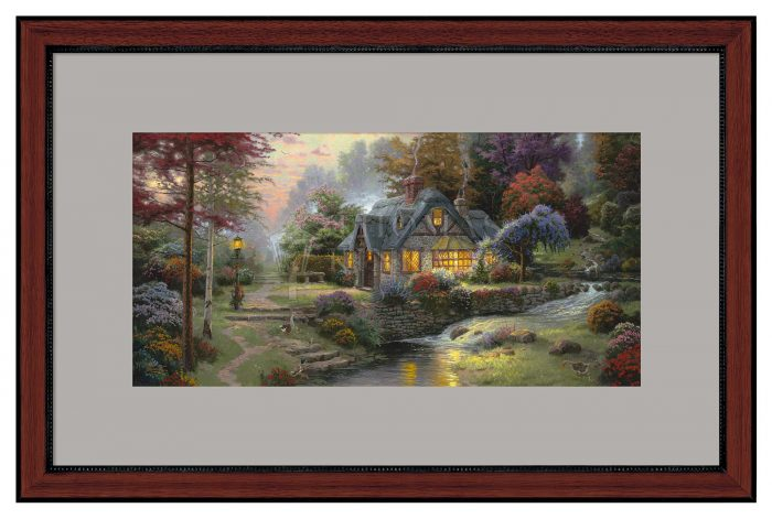 Stillwater Cottage – 12″ x 24″ Framed Print