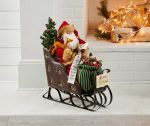 Nice List Santa – 15″ x 24″ Sculpture
