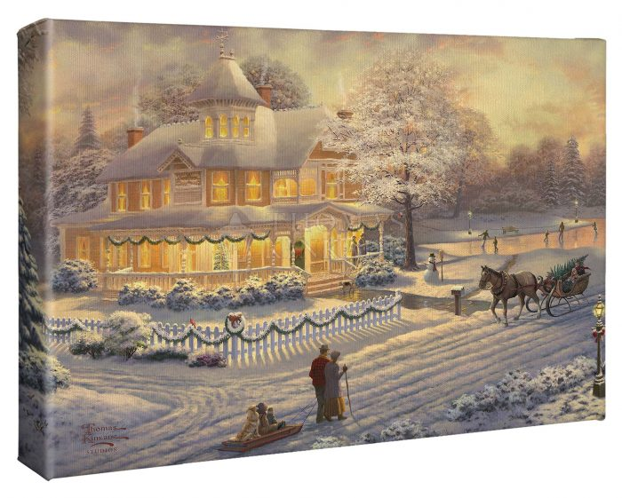 Victorian Christmas Sunset – 10″ x 14″ Gallery Wrapped Canvas