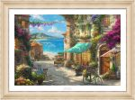 Italian Café – 18″ x 27″ SN LE Paper With Champagne Frame