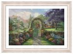 Hummingbird Cottage – 18″ x 27″ SN Limited Edition Paper With Ivory Frame