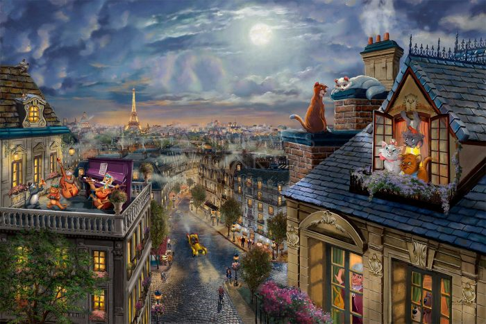 The Aristocats – Love Under the Moon – Limited Edition Canvas