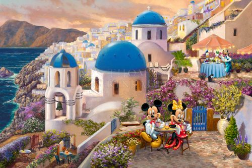 Disney Mickey and Minnie in Greece - Limited Edition Canvas