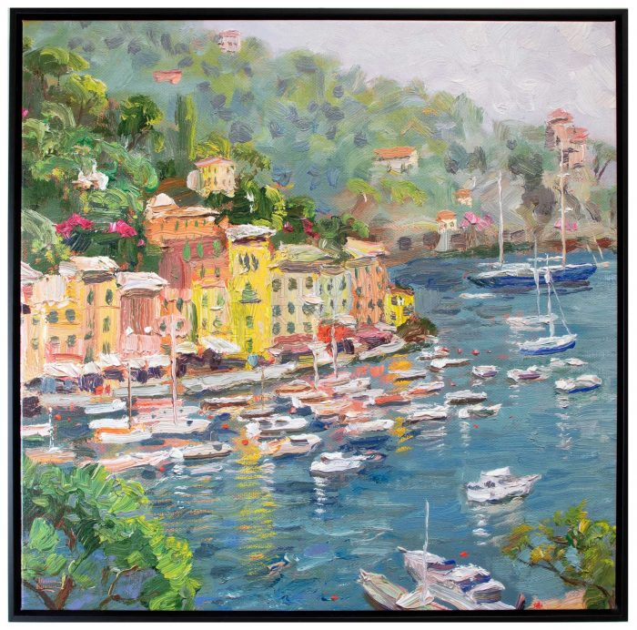 Portofino – 36″ X 36″ Framed Canvas Wall Murals