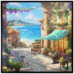 Italian Cafe – 36″ X 36″ Framed Canvas Wall Murals