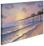 Footprints in the Sand – 24″ X 36″ Gallery Wrapped Canvas