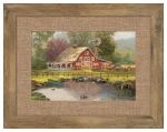 Red Barn Retreat – 10.5″ x 15.75″ Framed Print