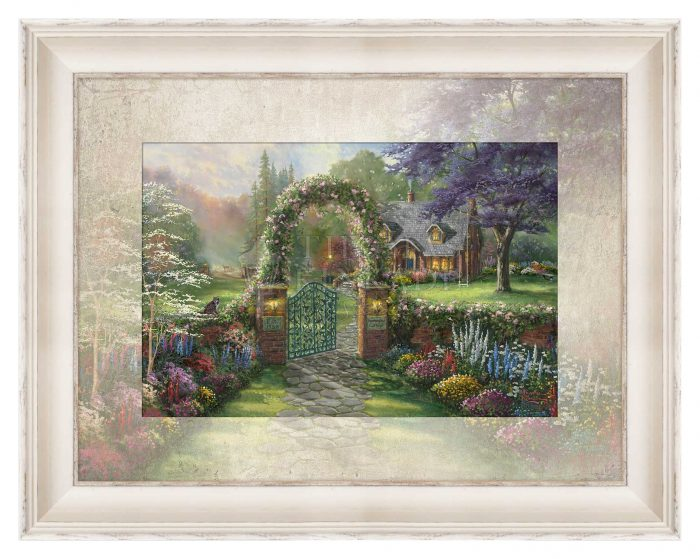 Hummingbird Cottage – 10.5″ x 15.75″ Framed Print