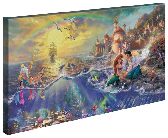The Little Mermaid – 16″ x 31″ Gallery Wrapped Canvas