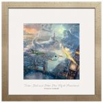 Tinker Bell and Peter Pan Fly to Neverland – 17.5″ x 17.5″ Prominence