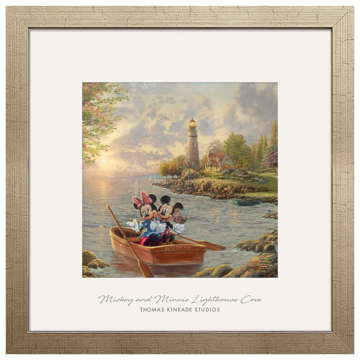 Mickey and Minnie Lighthouse Cove – 17.5″ x 17.5″ Prominence