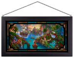 Peter Pan's Never Land – 13″ x 23″ Framed Glass Art