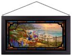 Donald and Daisy – A Duck Day Afternoon – 13″ x 23″ Framed Glass Art