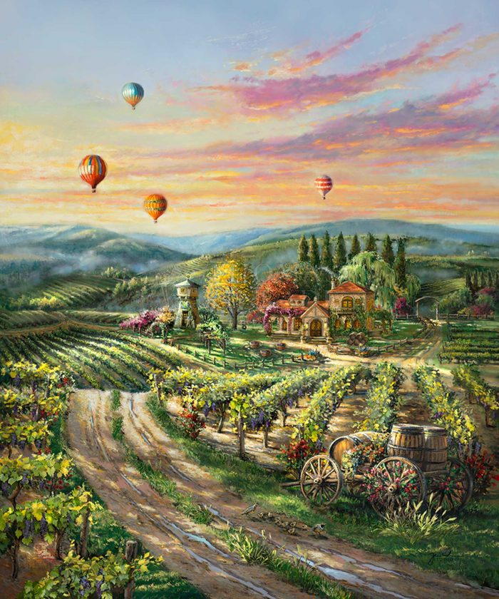 Peaceful Valley Vineyard – Limited Edition Canvas