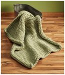 Sage Chunky Knit Throw Blanket