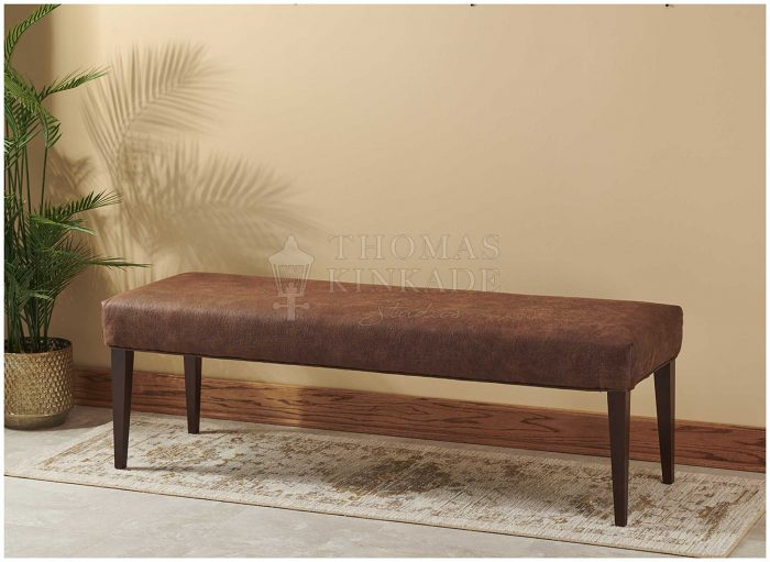 Conac Faux Leather – Transitional Bench
