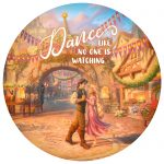 Rapunzel Dancing in the Sunlit Courtyard – 12.5″ Wood Sign