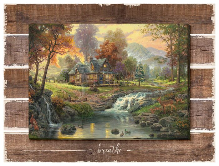 Mountain Retreat – 13″ x 18″ Wrapped Canvas on Pallet