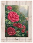 A Perfect Red Rose – 18″ x 13″ Wrapped Canvas on Pallet