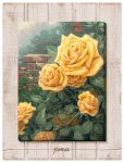 A Perfect Yellow Rose – 18″ x 13″ Wrapped Canvas on Pallet