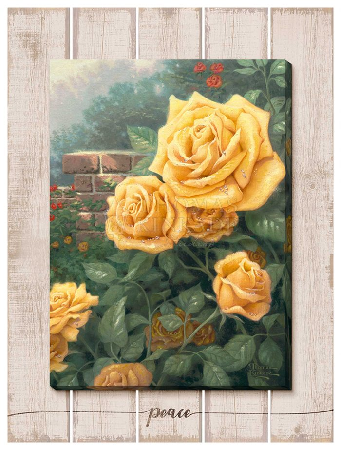 The Perfect Yellow Rose – 18″ x 13″ Wrapped Canvas on Pallet