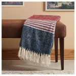 Red, Grey & Blue  – 50″ x 60″ Throw