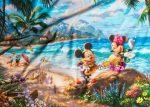 Mickey and Minnie in Hawaii by The Yard Fabric