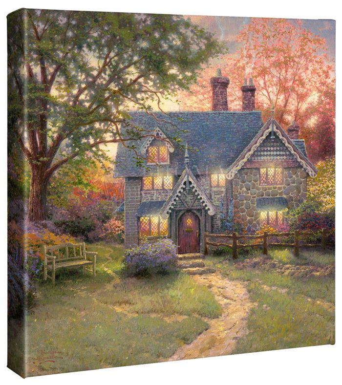 Gingerbread Cottage – 14″ x 14″ Gallery Wrapped Canvas
