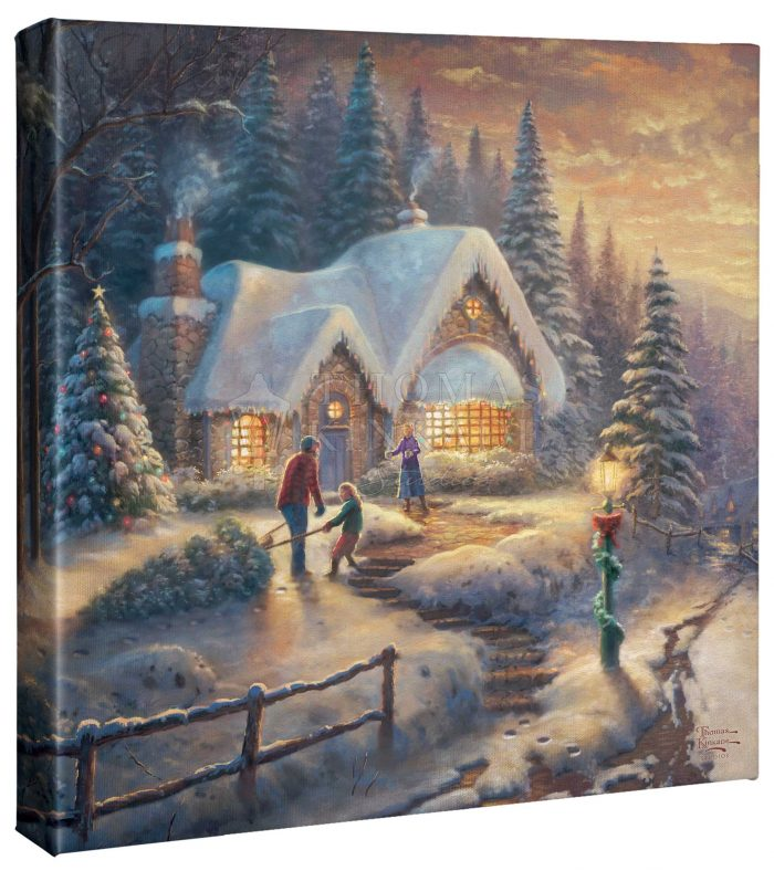 Country Christmas Homecoming – 14″ x 14″ Gallery Wrapped Canvas