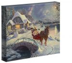 Mickey and Minnie Evening Sleigh Ride  – 8″ x 10″ Gallery Wrapped Canvas