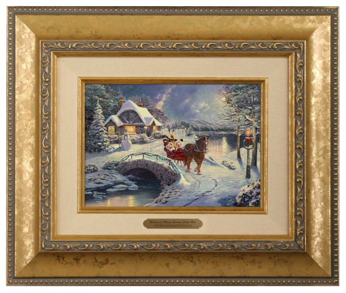 Mickey and Minnie Evening Sleigh Ride  – Brushworks