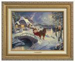 Mickey and Minnie Evening Sleigh Ride  – Canvas Classics