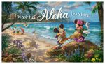Mickey and Minnie in Hawaii – 18″ x 30″ Wood Signs