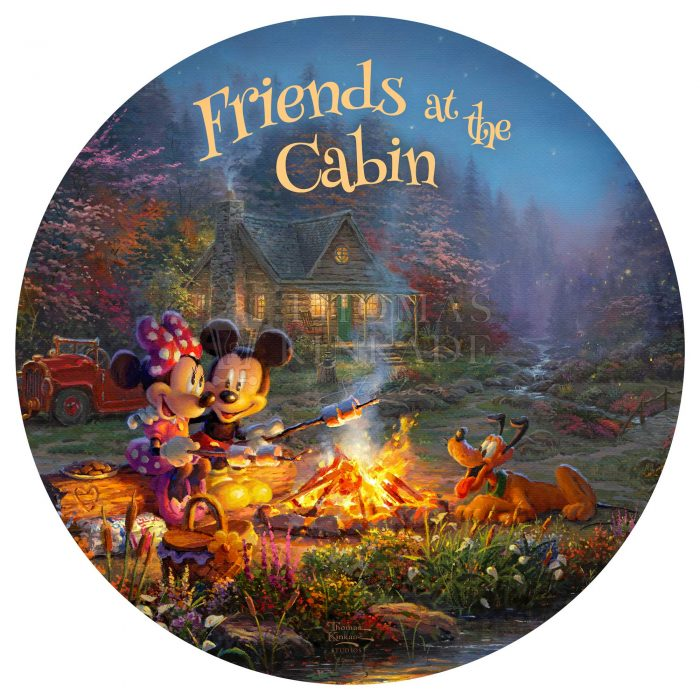 Disney – Mickey and Minnie – Sweetheart Campfire – 21″ Wood Signs
