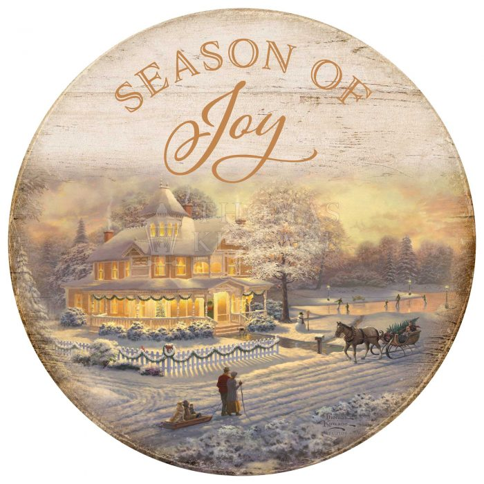 Victorian Christmas Sunset – 21″ Wood Signs