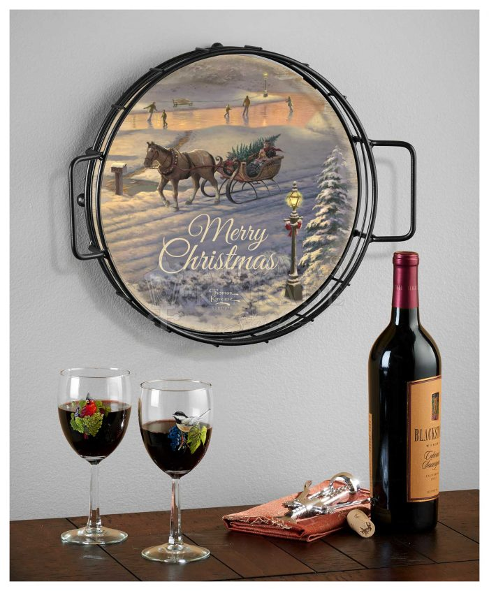 Victorian Christmas Sunset – 12.5″  Serving Trays