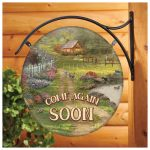 Red Barn Retreat – 18″ Round Metal Sign