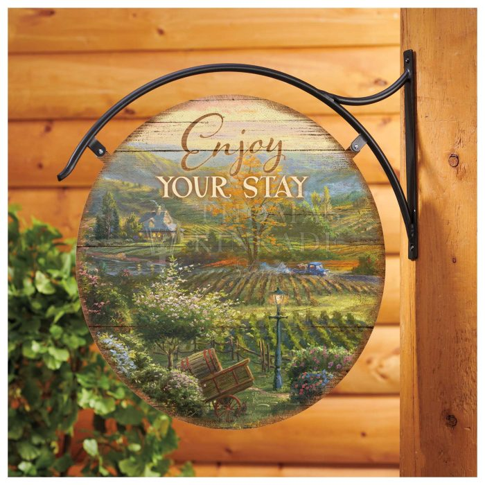 Wine Country – 18″ Round Metal Sign