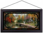 The Valley of Peace – 13″ x 23″ Stained Glass Art