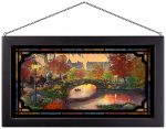 Autumn in New York – 13″ x 23″ Stained Glass Art