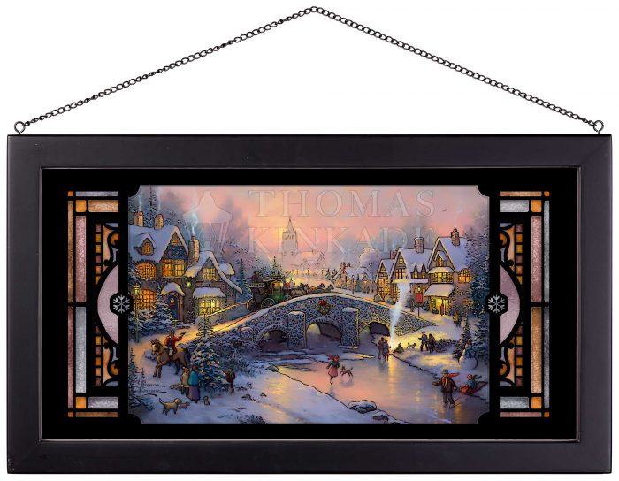 Spirit of Christmas – 13″ x 23″ Stained Glass Art