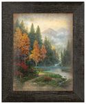 Evening at Autumn Lake – 12.5″ x 16″ Framed Metal Print (Left View)