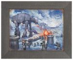 The Battle of Hoth – 12.5″ x 16″ Framed Metal Print