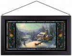 Sunday Evening Sleigh Ride – 11.5″ x 21.25″ Stained Glass Art