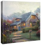 Lilac Cottage – 14″ x 14″ Gallery Wrapped Canvas